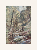 Devon Stream Premium Giclee Print by Lionel Edwards