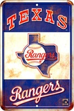 Texas Rangers Replay Tin Sign