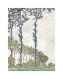 Wind Effect, Series of The Poplars 1891 Premium Giclee Print by Claude Monet