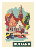 Monnickendam, Holland-The Netherlands Giclee Print by A Frederics