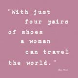 Enough Shoes Stampe di Maria Mendez