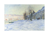 Lavacourt Under Snow Premium Giclee Print by Claude Monet
