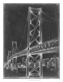 Suspension Bridge Blueprint II Giclee Print by Ethan Harper