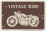 Vintage Ride Tin Sign