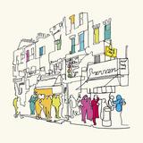 Street Scene I Giclee Print by Tom Frazier