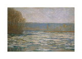 Break-up of the ice on the Seine, near Bennecourt, 1893 Premium Giclee Print by Claude Monet