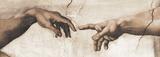Creation of Adam - Focus Giclée-tryk af Michelangelo