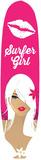 Chica surfista Cartel de chapa