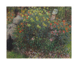 Ladies in Flowers, 1875 Premium Giclee Print by Claude Monet