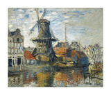 The Windmill on the Onbekende Gracht, Amsterdam, 1874 Premium Giclee Print by Claude Monet