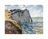 The Cliff of Aval, Etretat, 1885 Premium Giclee Print by Claude Monet