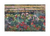 Peony Garden, 1887 Premium Giclee Print by Claude Monet