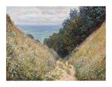 Road at La Cavee, Pourville, 1882 Premium Giclee Print by Claude Monet