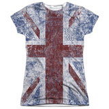 Juniors: The Who- Distressed Union Jack Womens Sublimated