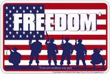 Özgürlük - Metal Tabela