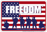 Freedom Tin Sign