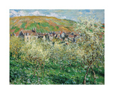 Plum Trees in Blossom, 1879 Premium Giclee Print by Claude Monet