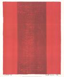Canto XV Reproduction pour collectionneur par Barnett Newman