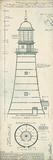 Lighthouse Plans II Lámina giclée por The Vintage Collection