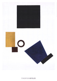Suprematism: Self Portrait in two dimensions Poster par Kazimir Malevich