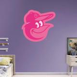 MLB Baltimore Orioles 2016 Pink RealBig Logo Wall Decal