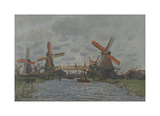 Windmills near Zaandam, 1871 Premium Giclee Print by Claude Monet