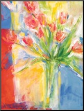 Tulips At 480 (Blue) Mounted Print by Kellar Mahaney