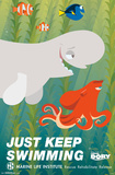 Finding Dory- Just Keep Swimming Deco Posters