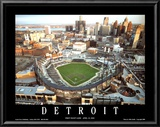 Detroit - First Night Game at Comerica Park Posters by Mike Smith