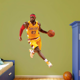 NBA LeBron James 2015-2016 Gold Throwback RealBig Wall Decal
