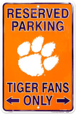 Clemson Tigers Reserved Tin Sign