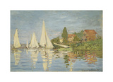 Regattas at Argenteuil, c.1872 Premium Giclee Print by Claude Monet