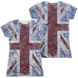 Juniors: The Who- Distressed Union Jack (Front/Back) Womens Sublimated