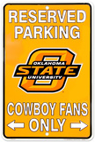 Cowboy Fans - OK State Tin Sign