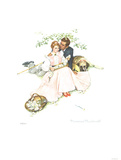 Flowers in Bloom Collectable Print by Norman Rockwell