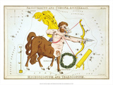Urania's Mirror, Sagittarius, 1825 Art by Sidney Hall