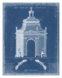 Garden Treillage Blueprint I Giclee Print by Vision Studio