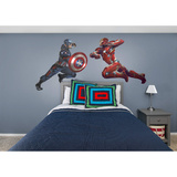 Marvel Captain America Civil War Captain Vs. Iron Man RealBig Wall Decal