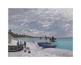 The Beach at Sainte-Adresse, 1867 Premium Giclee Print by Claude Monet