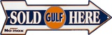 Gulf Sold Here Tin Sign
