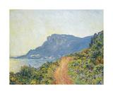La Corniche Near Monaco, 1884 Premium Giclee Print by Claude Monet