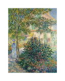 Camille Monet in the Garden at Argenteuil, 1876 Premium Giclee Print by Claude Monet