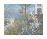 Villas at Bordighera, 1884 Premium Giclée-tryk af Claude Monet