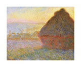 Grainstack (Sunset), 1891 Premium Giclee Print by Claude Monet