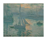 Sunrise (Marine), 1873 Premium Giclee Print by Claude Monet