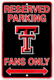 Texas Tech Fans Tin Sign