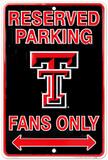 Texas Tech Fans Tin Sign