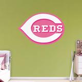 MLB Cincinnati Reds 2016 Pink RealBIg Logo Wall Decal
