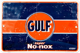 Gulf Super No-Nox Tin Sign