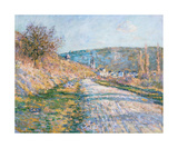The Road to Vetheuil, 1879 Premium Giclee Print by Claude Monet